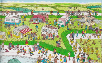Image result for find waldo in a campground