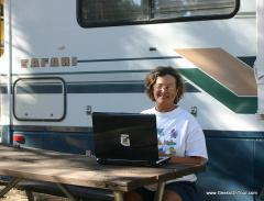 With Wi-Fi, we can work anywhere.