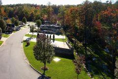 Aerial of Blue Ridge Resort, Lake Toscaway, NC--October!