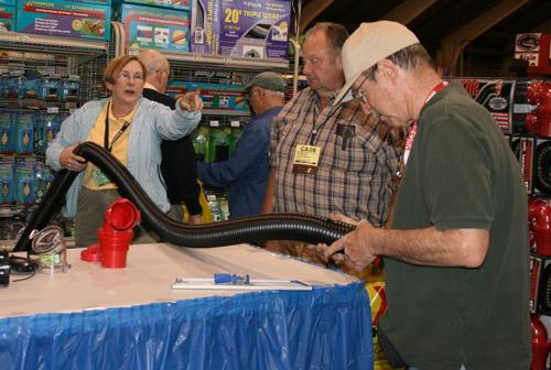 Indoor exhibits: RV products galore