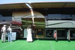 Display motorhome