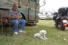Motorhomer and his dog