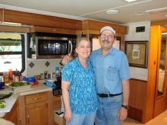 We just love cooking and enjoying the motorhome