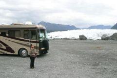 Our Windsor at the Matanuska Glacier