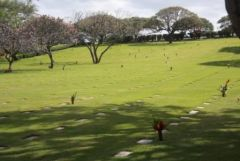 Graves at the National Memorial Cemetery of the Pacific - Ho