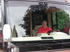 Wendy at the wheel