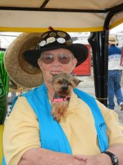 Me and my buddy Smokey (Yorkie)