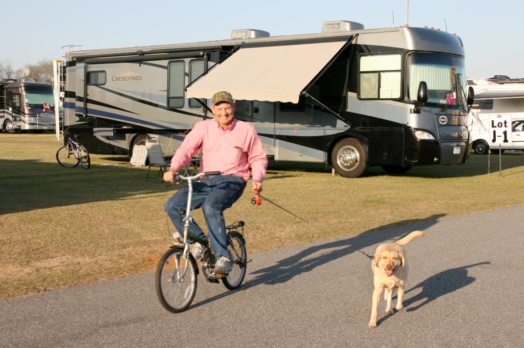 Biking with the dog