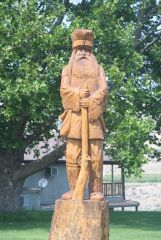 Tree Sculpture   Mountain Man