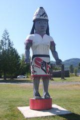 Makah Figure At Cultural Center