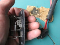 Blower Resistor, After Removal