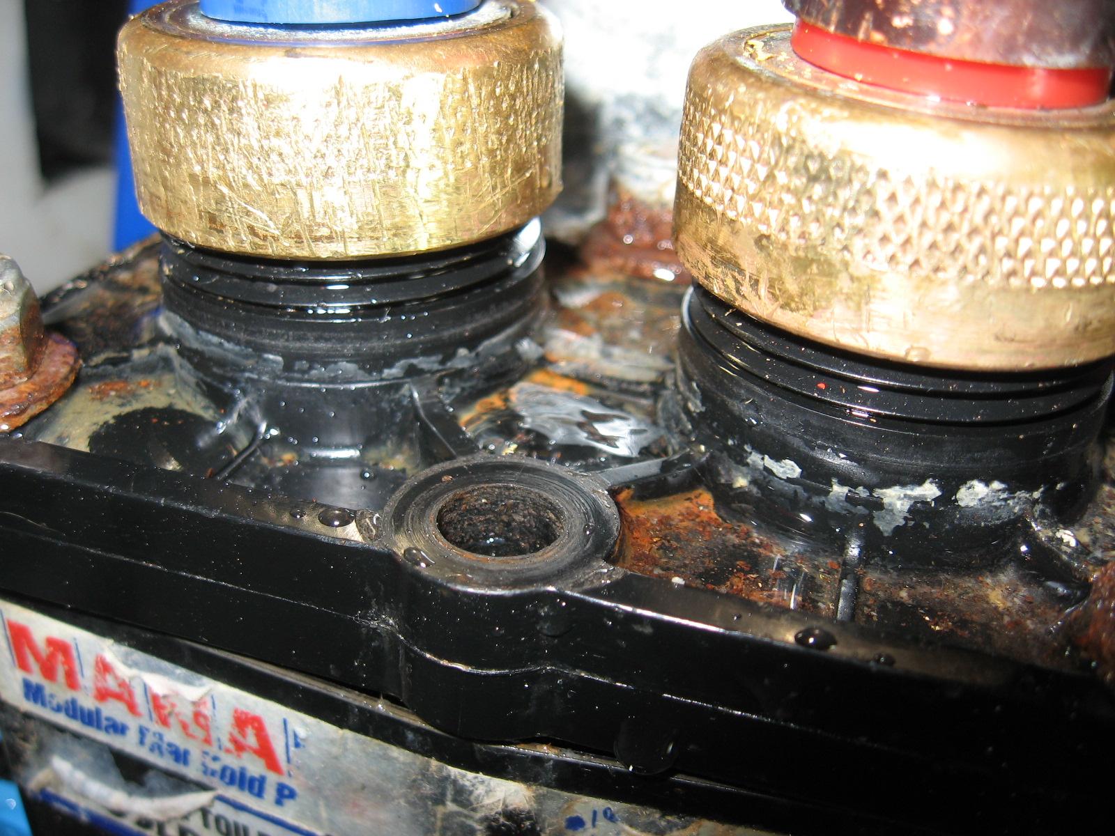 Years-Old Freeze Damage Atop Manabloc Manifold
