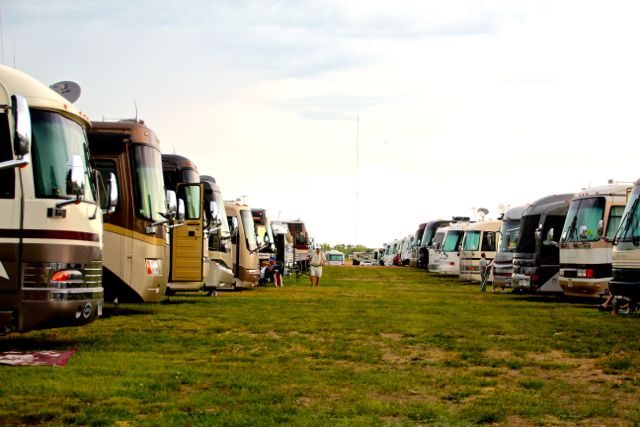 Type A motorhomes, family parking area