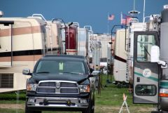 Parked motorhomes