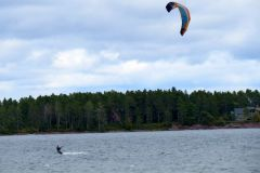 Kite surfing at Copper Harbor