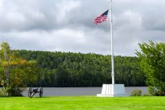 Flag at Fort Wilkins