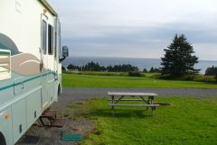 Our campsite at Red Point