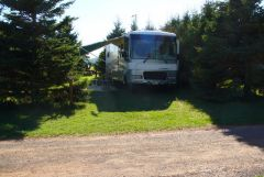 Our campsite at Twin Shores CG