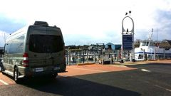 Roadtrek at ferry dock