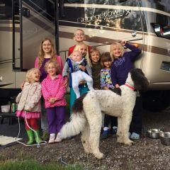 Grandkids help to break in new RV