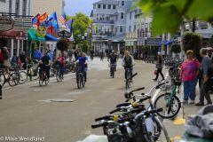 Biking on Main Street