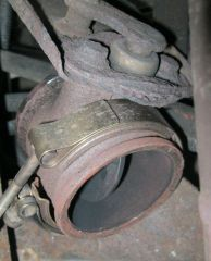 Exhaust brake internal damper