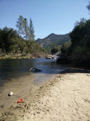 river near the RV park we stayed at