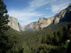 View from Glacier point Yosemite March 2015