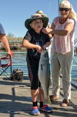 9 lb. Stripe Bass, caught by 9 yr. old