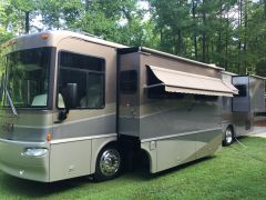 Our RV in our back yard