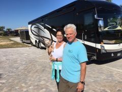 Bailey loves to travel with Rick and Kathi