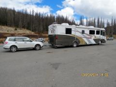 Our Coach Atop Wolf Creek Pass