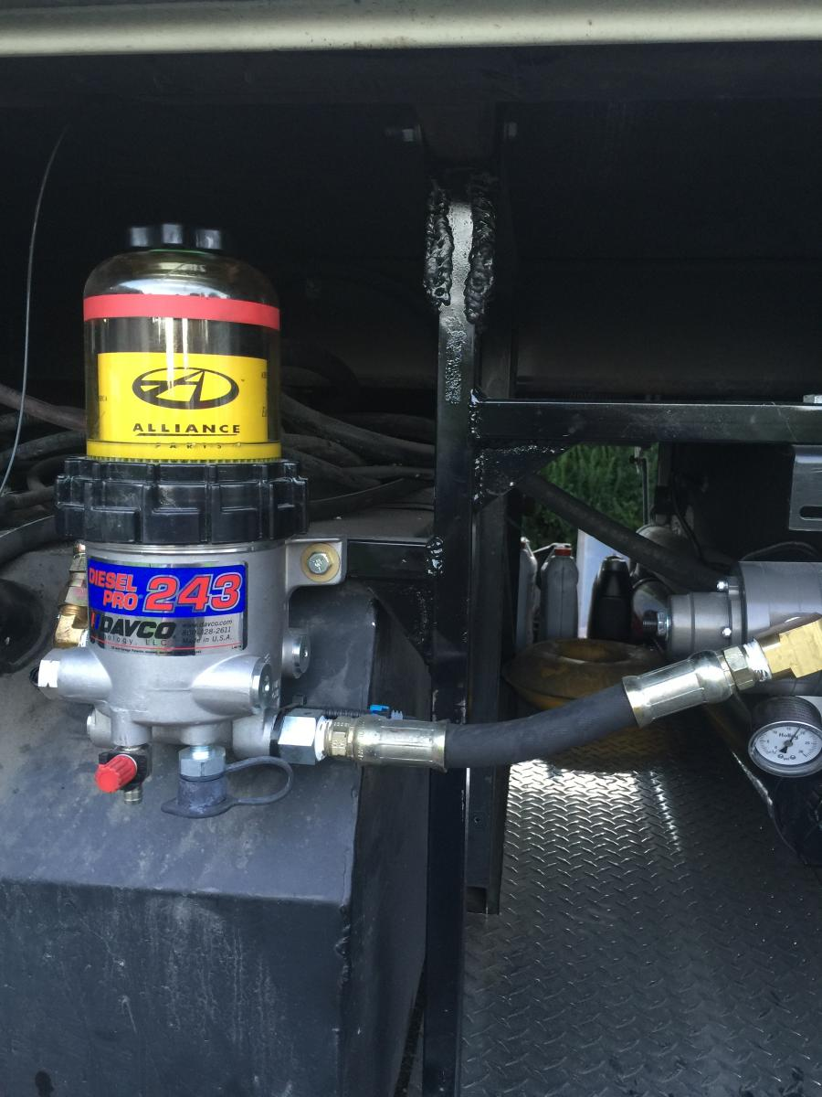 Davco primary filter installed with Fass Fuel pump