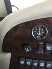 Fuel pressure gauge mounted in dash to monitor fuel pressure and filter condition.
