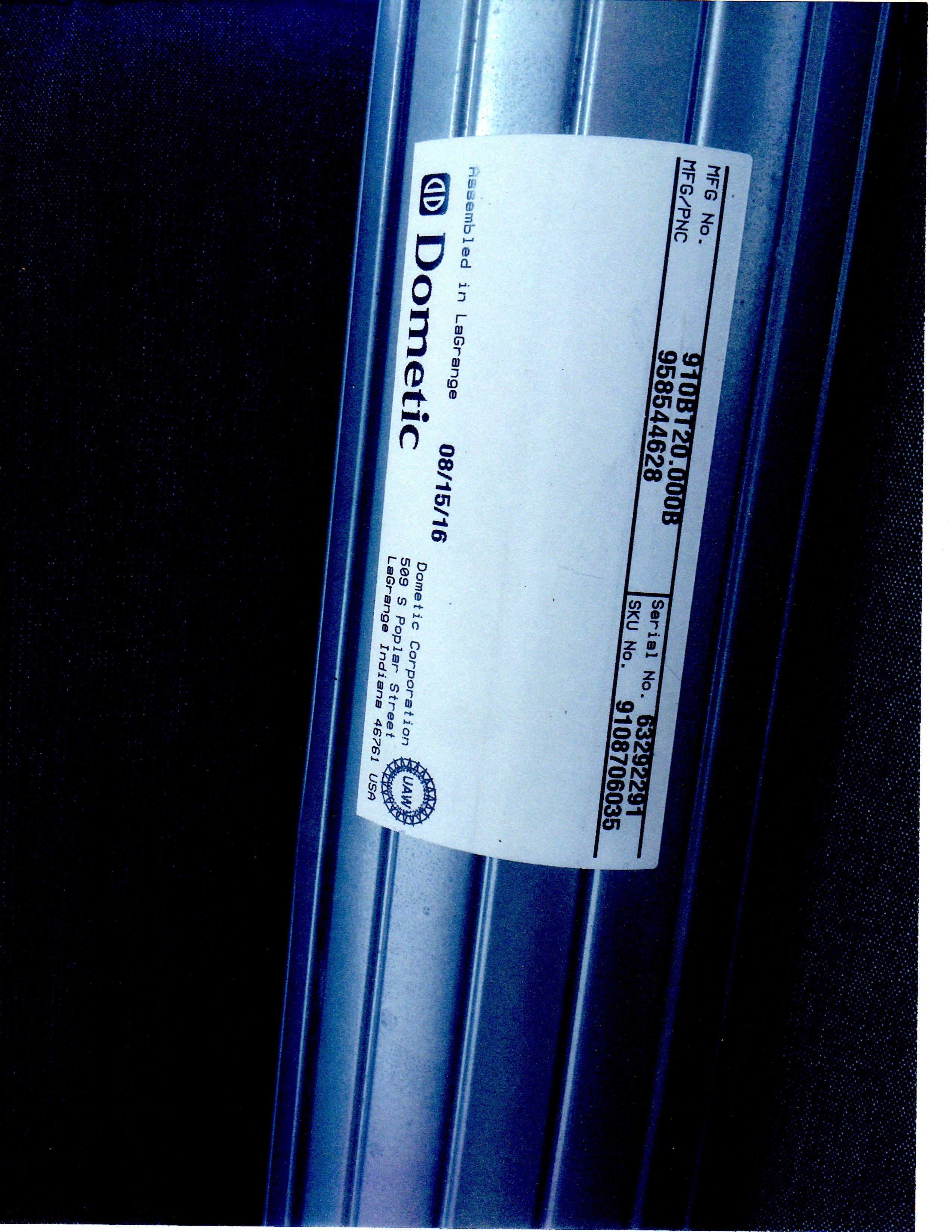 Dometic awning 910BT20.000B will not retract - Type A ...